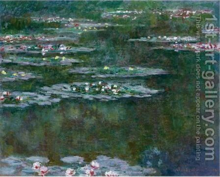 Nympheas 7 by Claude Oscar Monet - Reproduction Oil Painting