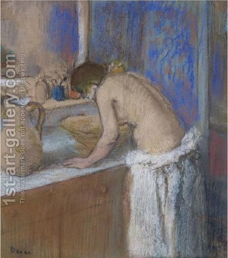 La Toilette, Fillette by Edgar Degas - Reproduction Oil Painting
