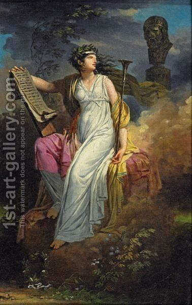 Calliope by Charles Meynier - Reproduction Oil Painting