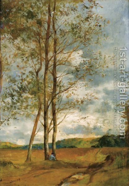 Birch In Montoire, Near Blois by Eugene Fromentin - Reproduction Oil Painting