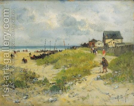 The Path By The Seaside by Alexandre Defaux - Reproduction Oil Painting