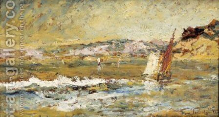 The Sea At Cassis by Adolphe Joseph Thomas Monticelli - Reproduction Oil Painting