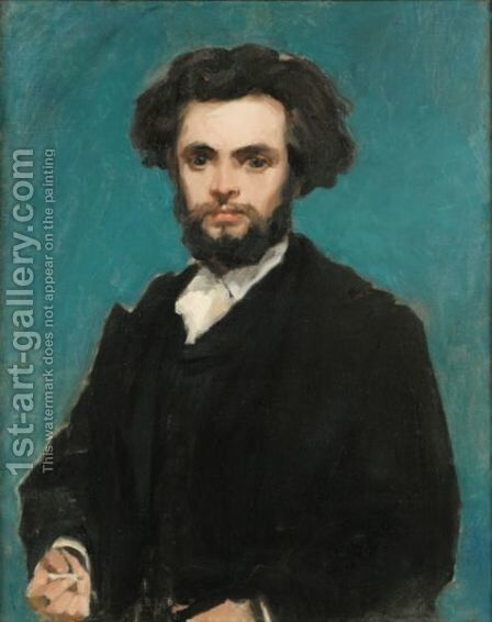 Portrait Of A Young Man by Carolus (Charles Auguste Emile) Duran - Reproduction Oil Painting