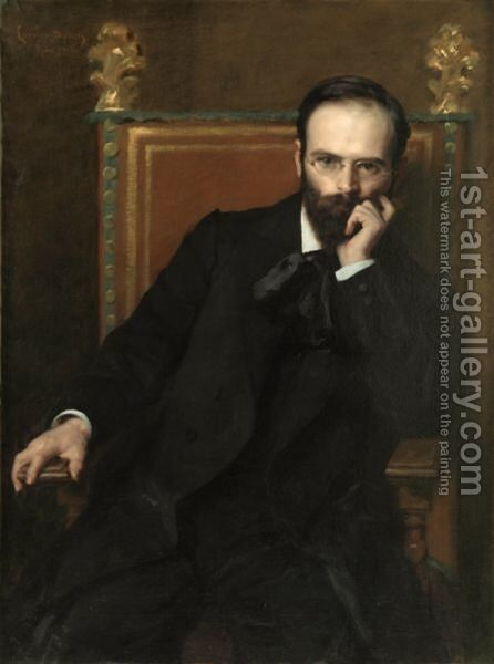 Portrait Of The Sculptor Henri Bouchard by Carolus (Charles Auguste Emile) Duran - Reproduction Oil Painting
