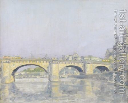 View Of The Pont-Neuf, Paris by Ecole Francaise, Xixeme Siecle - Reproduction Oil Painting