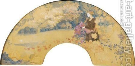 The Ballad Of The Ladies In Times Past by Charles Edward Conder - Reproduction Oil Painting