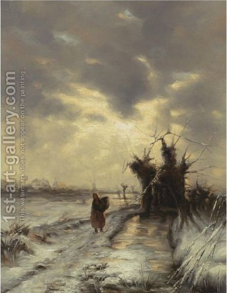 The Way Home by (after) Iulii Iul'evich (Julius) Klever - Reproduction Oil Painting