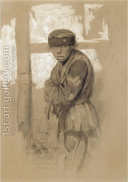 Street Urchin by Ilya Efimovich Efimovich Repin - Reproduction Oil Painting