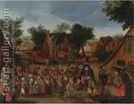 Feast Of The Children by (after) Pieter The Younger Brueghel - Reproduction Oil Painting