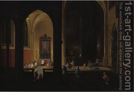 Interior Of A Church by Dirck Van Delen - Reproduction Oil Painting