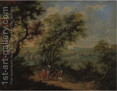 Landscape With Figures by Adriaen Frans Boudewijns - Reproduction Oil Painting