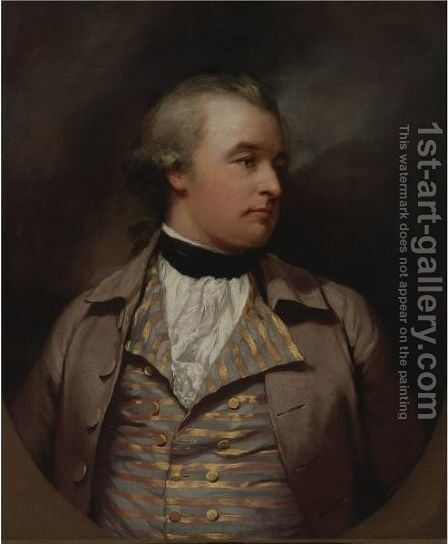 Portrait Of Phillip Morshead, Esq. (1748-1803) Of Widey Court, Plymouth by James Northcote, R.A. - Reproduction Oil Painting