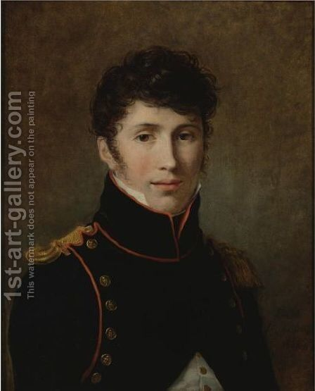 Portrait Of A Young Officer by Constance Marie Charpentier - Reproduction Oil Painting