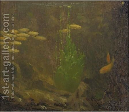 Under The Sea by Gerrit Willem Dijsselhof - Reproduction Oil Painting
