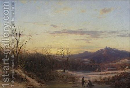 Winter In New York by Dewitt Clinton Boutelle - Reproduction Oil Painting