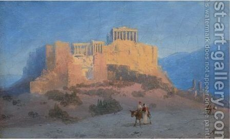 View Of The Acropolis by Ivan Konstantinovich Aivazovsky - Reproduction Oil Painting