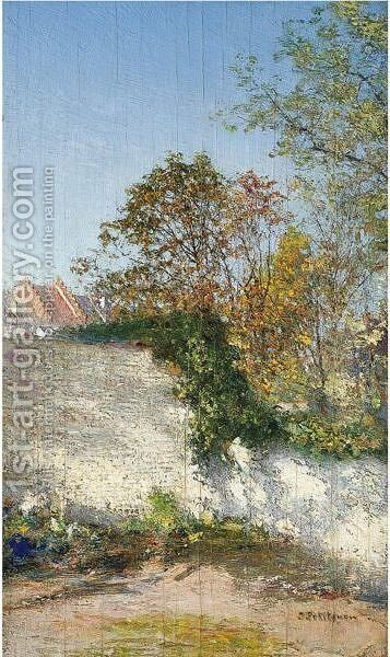 A Corner Of Our Garden by Ivan Pavlovich Pokhitonov - Reproduction Oil Painting