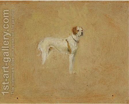 Krotkiy, The Artist's Dog by Ivan Pavlovich Pokhitonov - Reproduction Oil Painting