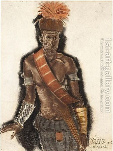 Chief Bafouatete From The Babali Tribe by Alexander Evgenievich Yakovlev - Reproduction Oil Painting