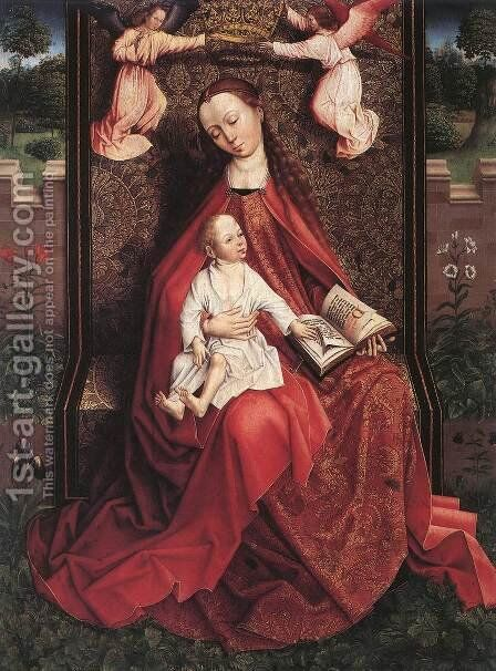 The Virgin And Child Censed By Two Angels by Flemish Unknown Masters - Reproduction Oil Painting