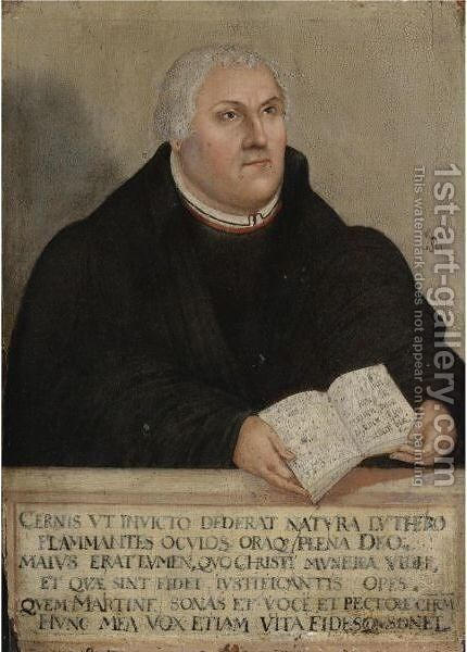 Portrait Of Martin Luther by (after) Lucas The Younger Cranach - Reproduction Oil Painting