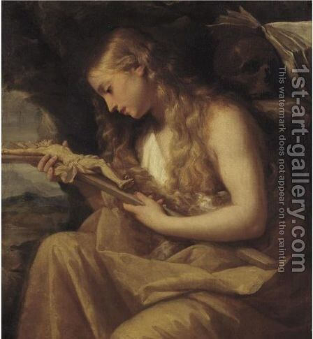 The Penitent Magdalene by Giovanni Gioseffo da Sole - Reproduction Oil Painting