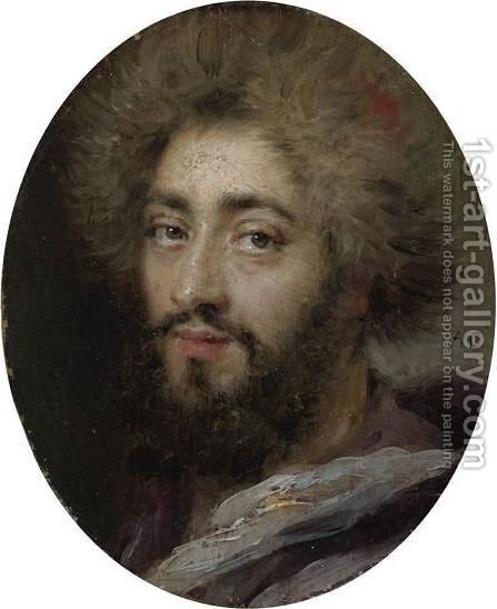 Portrait Of Mohammed Reza Bey, Persian Ambassador To France, During The Reign Of Louis XIV by Antoine Coypel - Reproduction Oil Painting