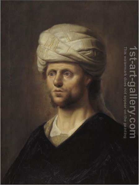 Portrait Of A Man In A Turban by (after) Harmenszoon Van Rijn Rembrandt - Reproduction Oil Painting