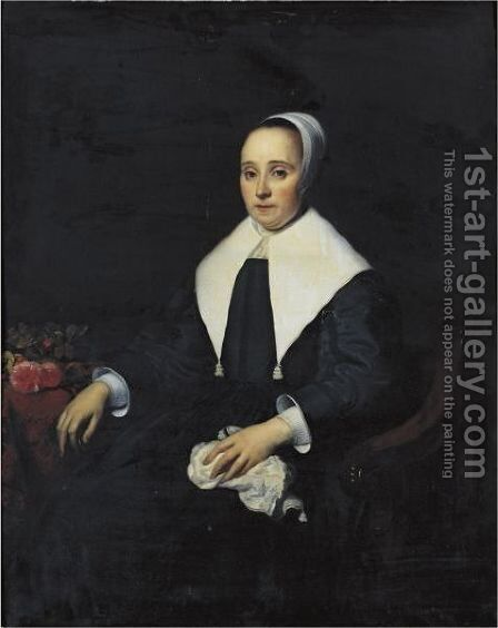 Portrait Of A Lady 2 by Jacob van Loo - Reproduction Oil Painting