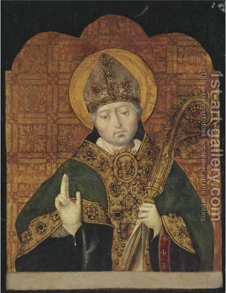 St. Blaise by Spanish Unknown Masters - Reproduction Oil Painting