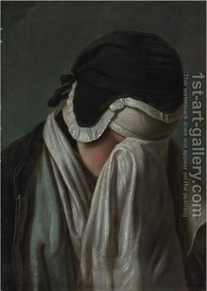 Portrait Of A Young Girl, Hiding Her Eyes by (after) Pietro Antonio Rotari - Reproduction Oil Painting