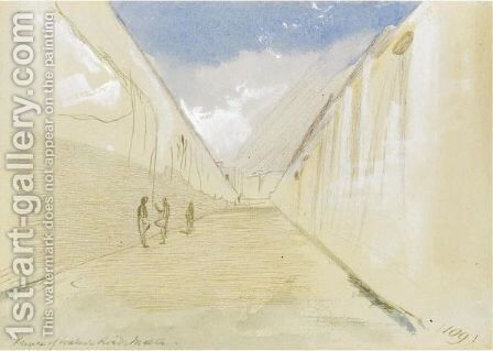 Prince Of Wales Road, Malta by Edward Lear - Reproduction Oil Painting