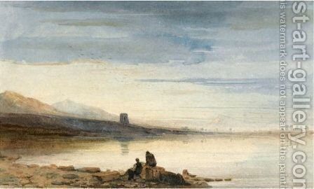 Dolbadern Tower, Llanberis Lake, North Wales by David Cox - Reproduction Oil Painting