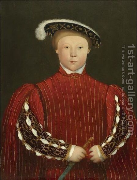 Portrait Of Edward, Prince Of Wales, Later King Edward VI (1537-1553) by Hans, the Younger Holbein - Reproduction Oil Painting