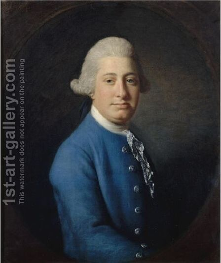 Portrait Of Lock Rollinson Of Chadlington, Oxfordshire (D.1788) by Allan Ramsay - Reproduction Oil Painting