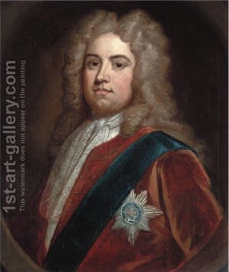 Portrait Of Charles, 2nd Viscount Townshend (1674-1738) by (after) Kneller, Sir Godfrey - Reproduction Oil Painting