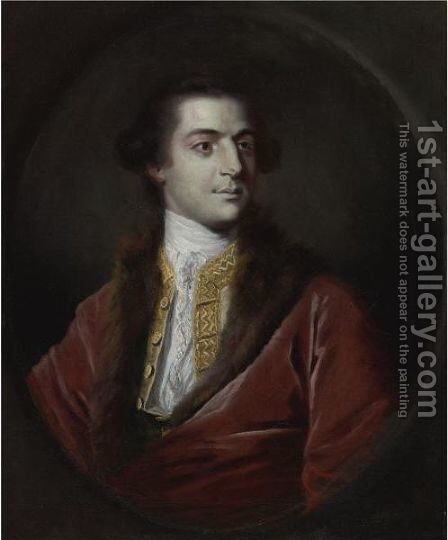 Portrait Of Augustus Henry Fitzroy, 3rd Duke Of Grafton (1735-1811) by Sir Joshua Reynolds - Reproduction Oil Painting