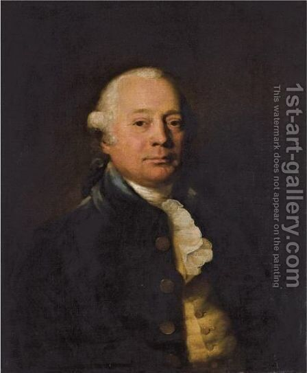 Portrait Of Edward Moore (1735-1792) Of Stockwell House, Surrey by Sir Joshua Reynolds - Reproduction Oil Painting