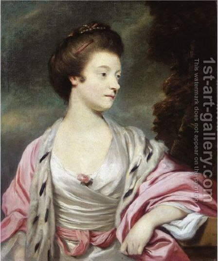 Portrait Of Elizabeth, Lady Amherst (1740-1830) by Sir Joshua Reynolds - Reproduction Oil Painting