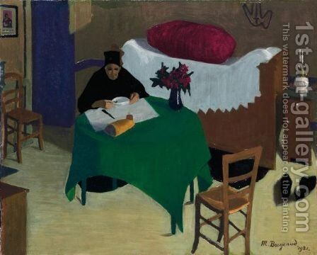 The Solitary Meal, 1921 by Marius Borgeaud - Reproduction Oil Painting