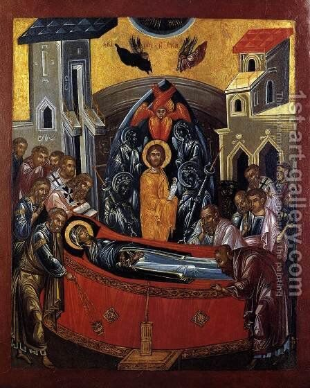 The Dormition Of The Mother Of God by Cretan Unknown Master - Reproduction Oil Painting