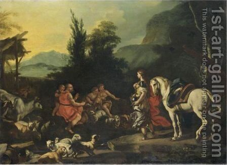 Erminia Tra I Pastori by (after) Francesco Solimena - Reproduction Oil Painting