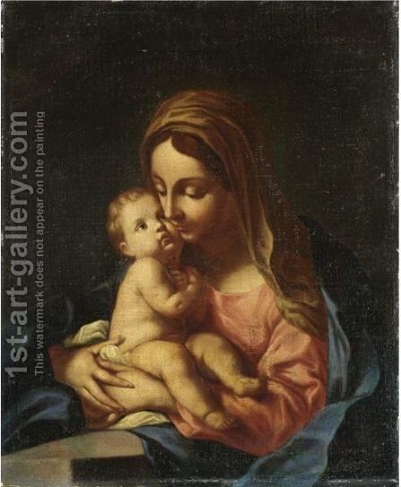 Madonna Col Bambino 5 by Italian School - Reproduction Oil Painting