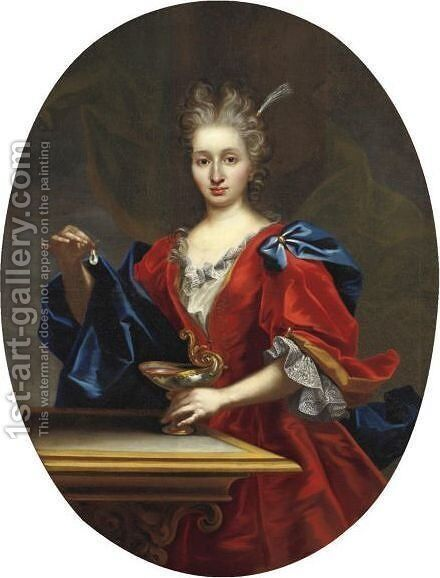 Cleopatra by (after) Giovanni Maria Delle, Called Mulinaretto Piane - Reproduction Oil Painting