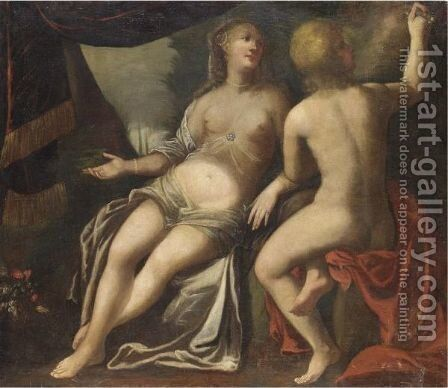 Angelica E Medoro by (after) Pietro Liberi - Reproduction Oil Painting
