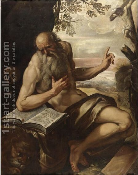 San Gerolamo In Meditazione by (after) Giovanni Contarini - Reproduction Oil Painting