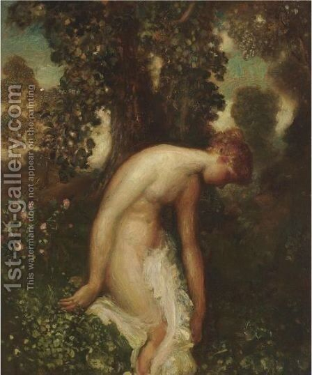 The Bather by Arthur Bowen Davies - Reproduction Oil Painting
