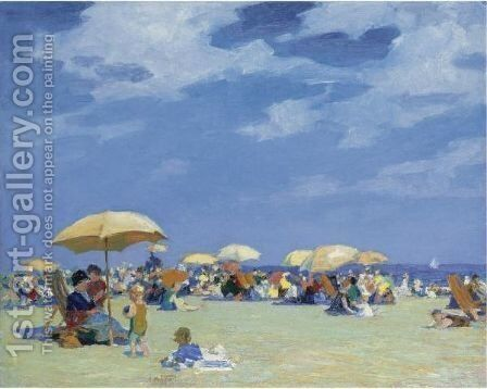Beach At Far Rockaway by Edward Henry Potthast - Reproduction Oil Painting