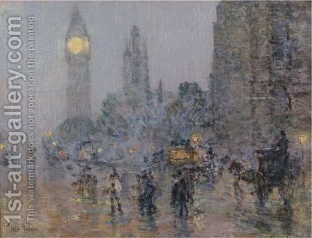 Nocturne-Big Ben by Frederick Childe Hassam - Reproduction Oil Painting