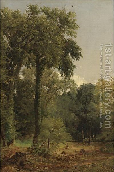 A Stand Of Trees by Jasper Francis Cropsey - Reproduction Oil Painting